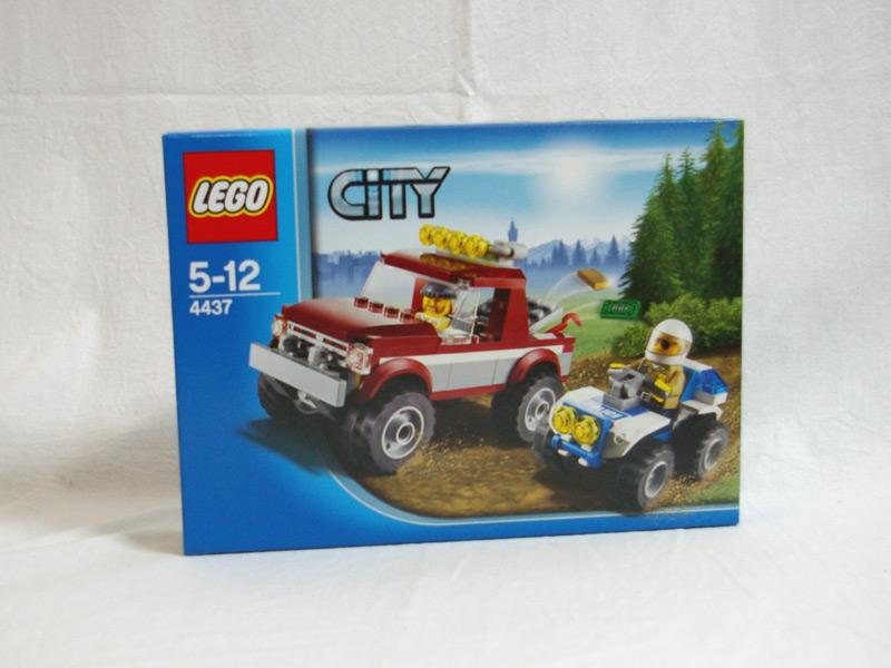 #4437 レゴ オフロード4WDとポリスATV