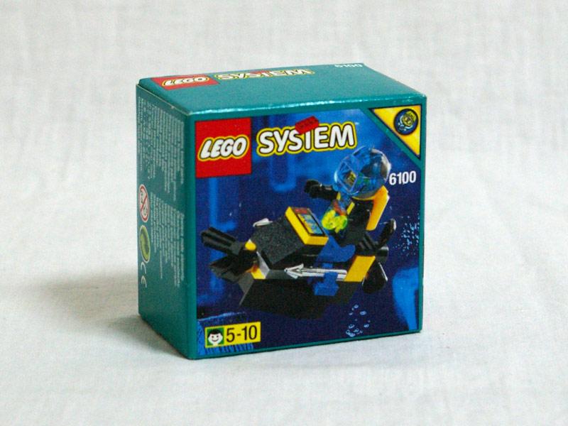 #6100 レゴ アクアシャークの水中バイク