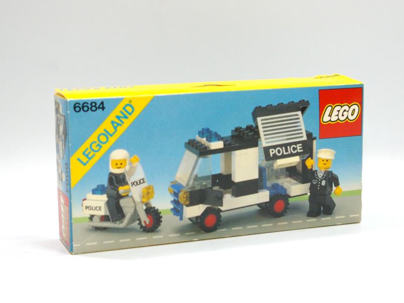 #6684 レゴ パトロールカーとバイク