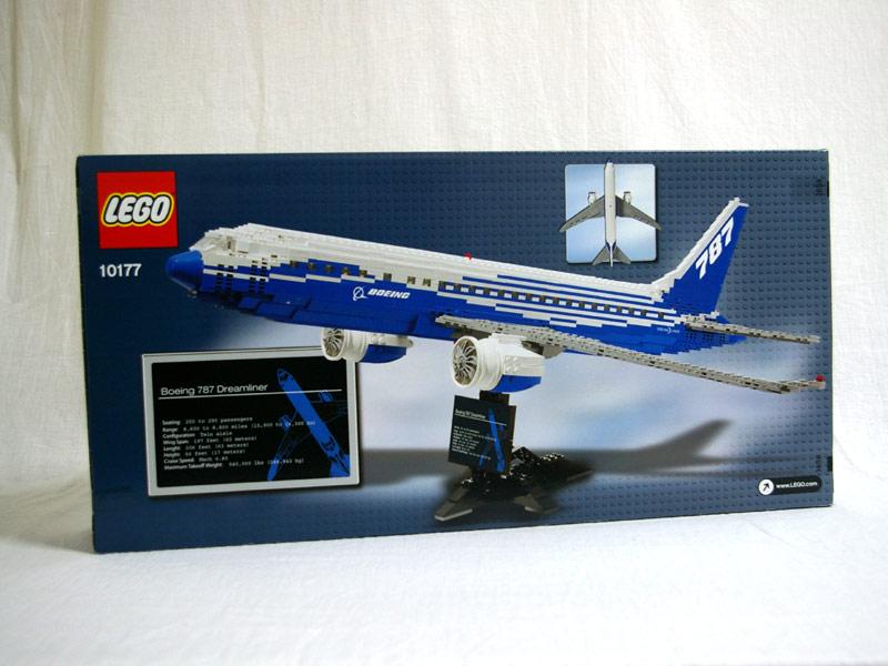 #10177 レゴ ボーイング 787 ドリームライナー  背面の写真