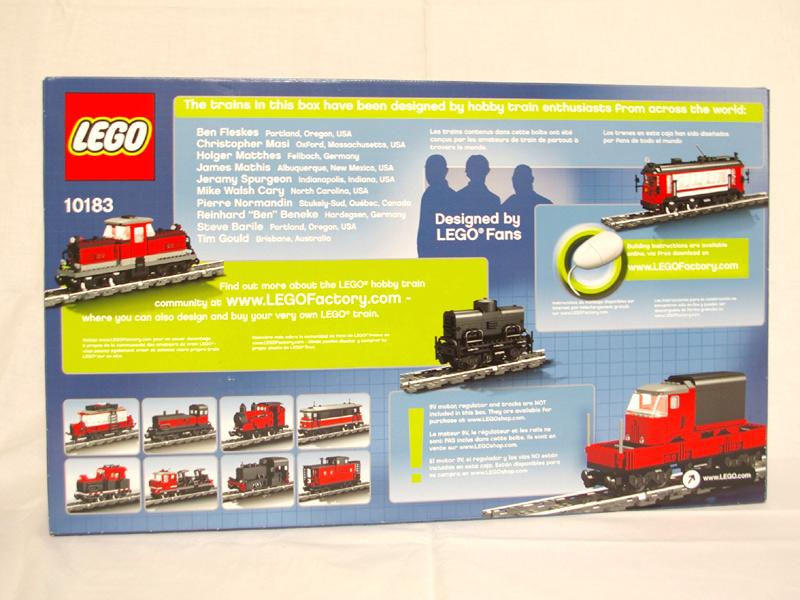 #10183 レゴ ホビートレイン 背面の写真