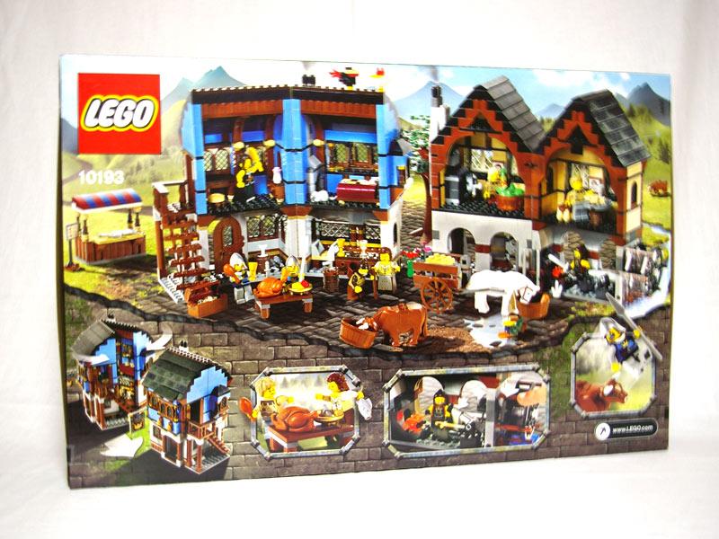 #10193 レゴ マーケットビレッジ 背面の写真