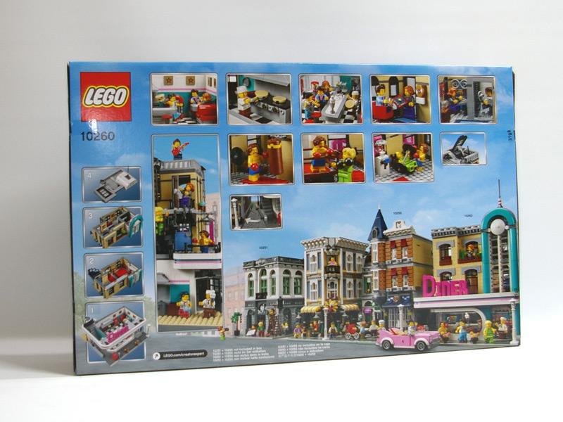 #10260 レゴ ダウンタウンのダイナー 背面の写真
