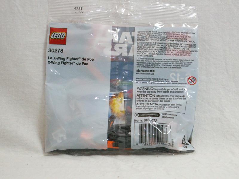 #30278 レゴ ポーのXウィング・ファイターミニ 背面の写真