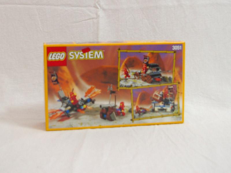 #3051 レゴ 赤ニンジャのドラゴンカート 背面の写真