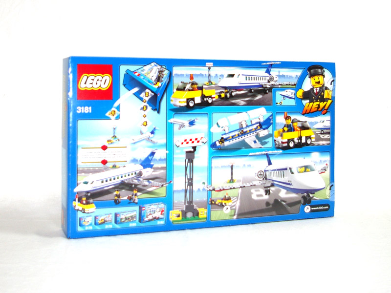 #3181 レゴ 旅客機 背面の写真