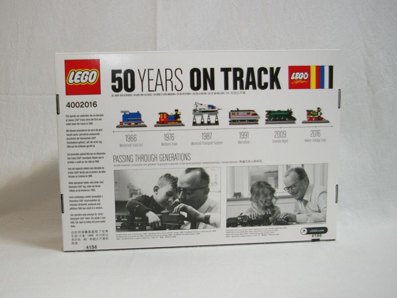 #4002016 レゴ トレイン50周年記念セット 背面の写真