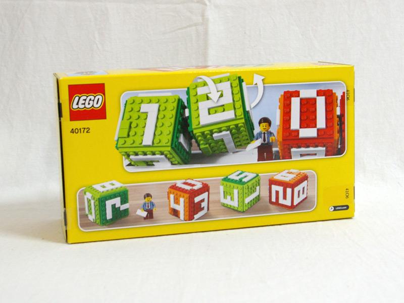 #40172 レゴ ブロックカレンダー 背面の写真