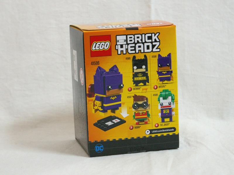 #41586 レゴ ブリックヘッズ バットガール 背面の写真