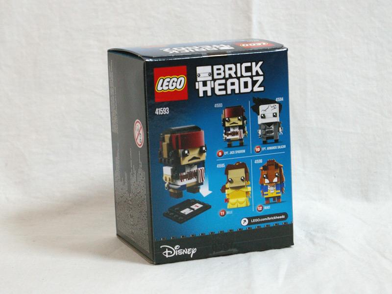 #41593 レゴ ブリックヘッズ ジャック・スパーロー 背面の写真