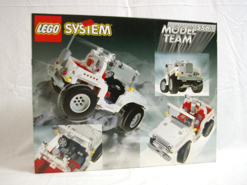 #5563 レゴ レーシングトラック 背面の写真