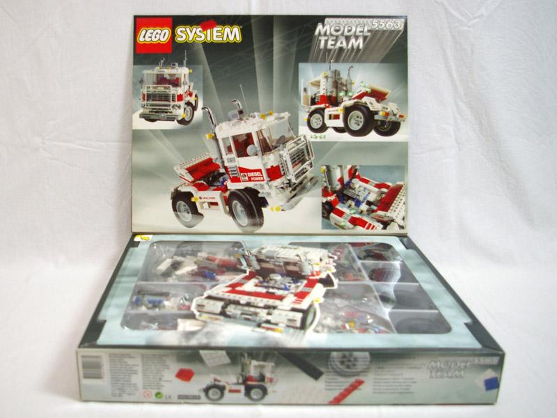 #5563 レゴ レーシングトラック 中面の写真