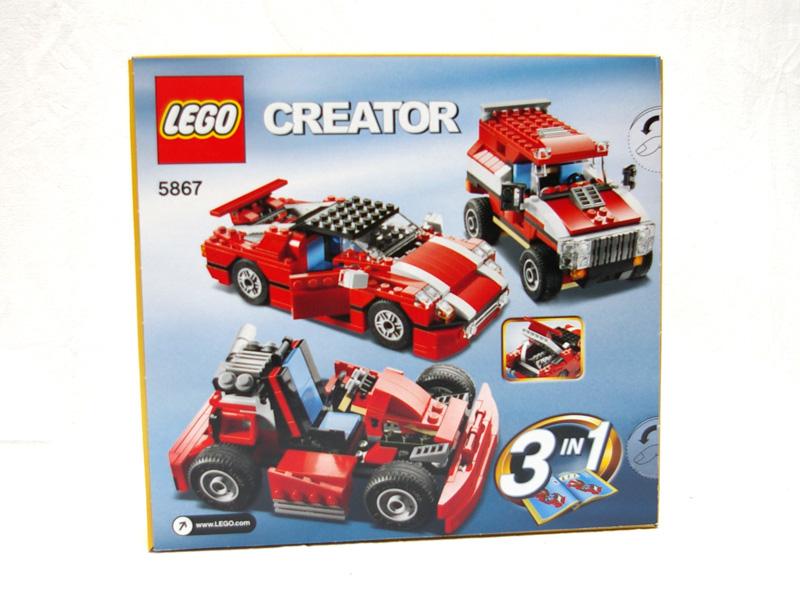 #5867 レゴ スーパースピードスター 背面の写真