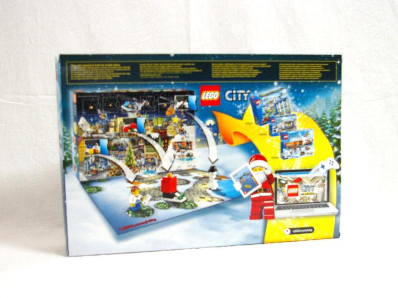 #60063 レゴ シティ アドベントカレンダー2014 背面の写真