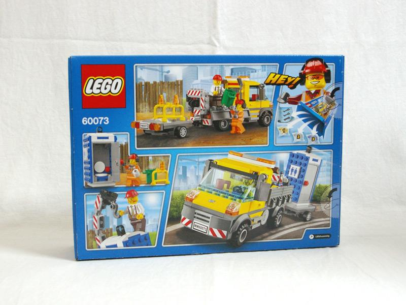 #60073 レゴ お仕事トラック 背面の写真