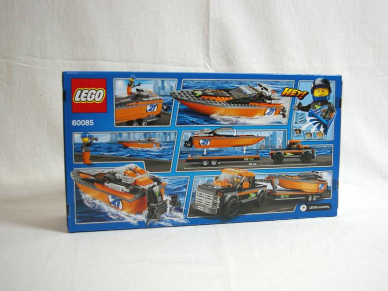 #60085 レゴ パワーボートと4WDキャリアー 背面の写真
