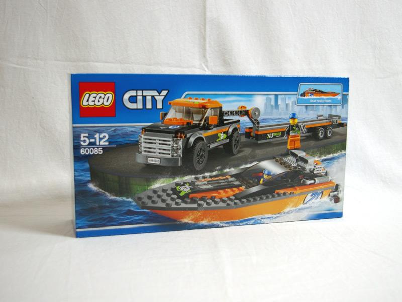 #60085 レゴ パワーボートと4WDキャリアー 正面の画像