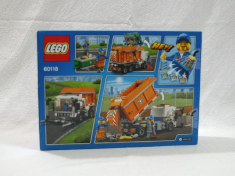 #60118 レゴ ゴミ収集車 背面の写真