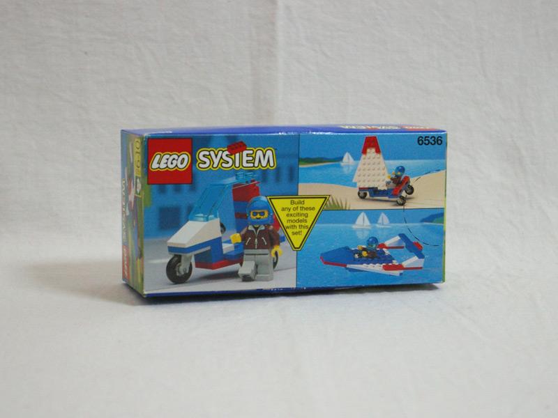 #6536 レゴ スポーツプレーン 背面の写真