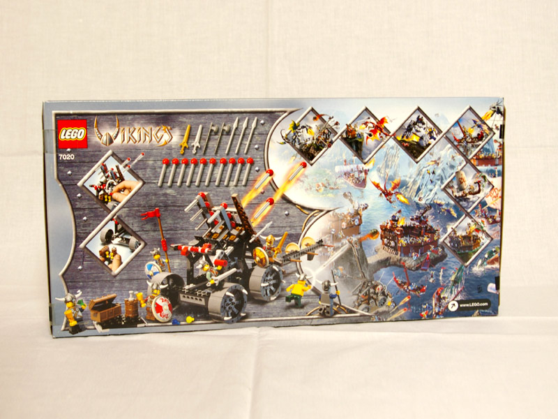 #7020 レゴ バイキング軍の大砲 背面の写真