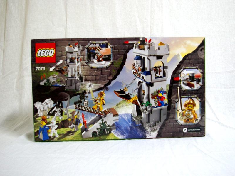 #7079 レゴ 黄金騎士の塔 背面の写真