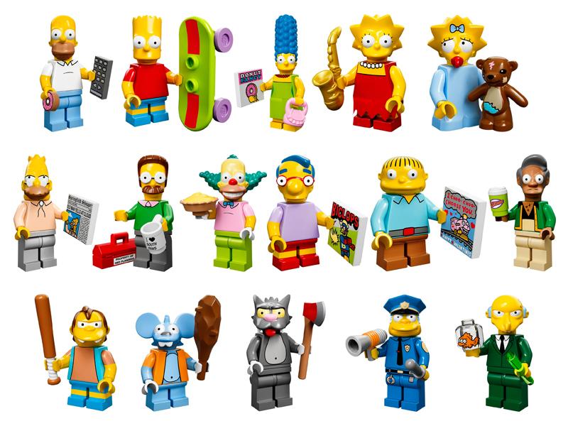#71005 レゴ ミニフィギュアシリーズ シンプソンズ 中身のイメージ
