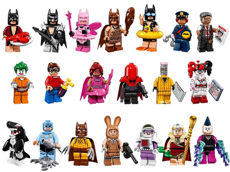 #71017 レゴ ミニフィギュアシリーズ レゴ バットマンムービー 中身のイメージ