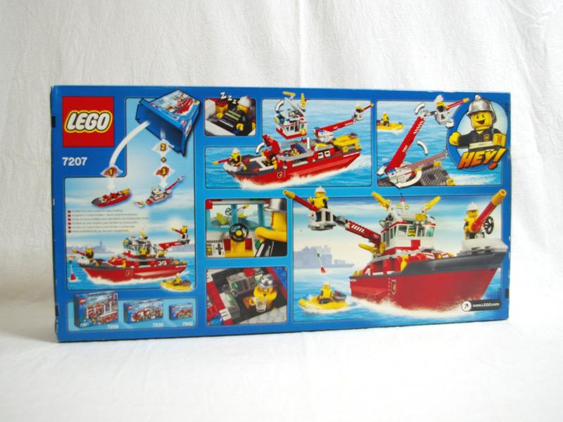 #7207 レゴ ファイヤボート 背面の写真