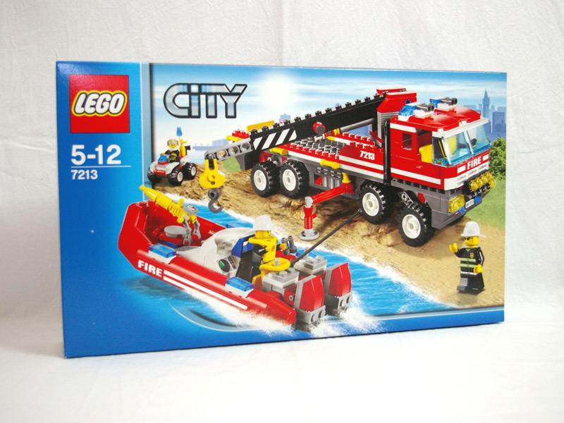#7213 レゴ オフロード消防自動車と消防艇