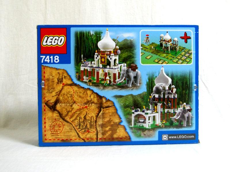 #7418 レゴ さそりの宮殿 背面の写真