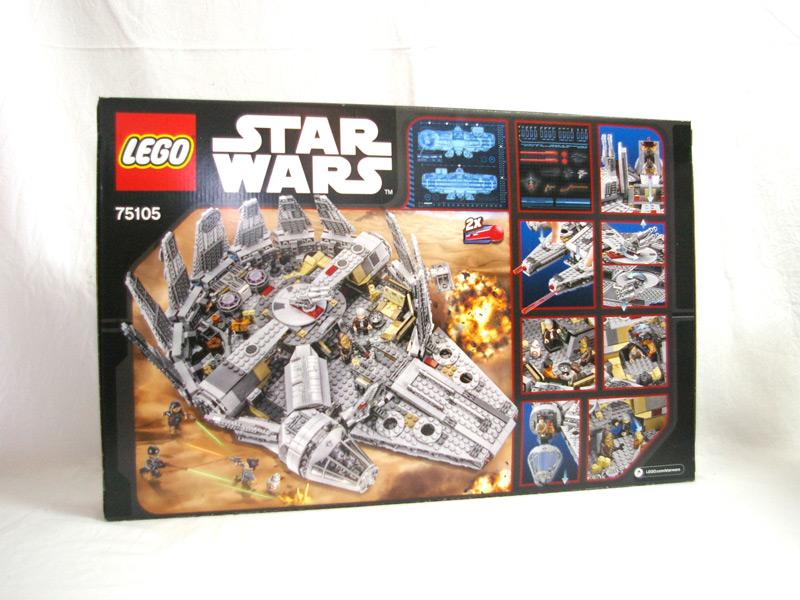 #75105 レゴ ミレニアム・ファルコン 背面の写真