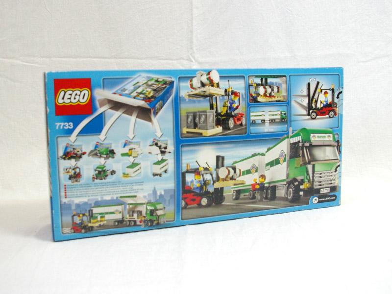 #7733 レゴ トラックとフォークリフト 背面の写真