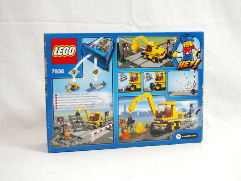 #7936 レゴ 踏み切り 背面の写真