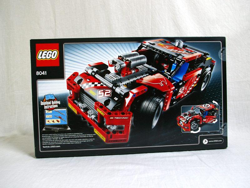 #8041 レゴ レーシングトラック 背面の写真