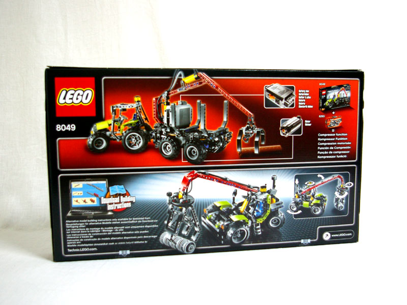 #8049 レゴ ログローダー 背面の写真