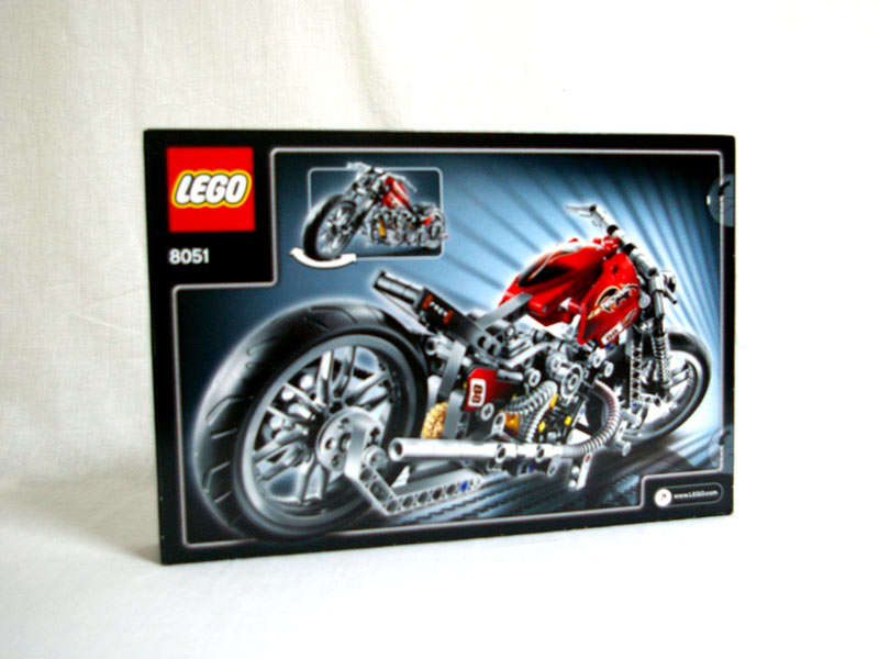 #8051 レゴ モーターバイク 背面の写真