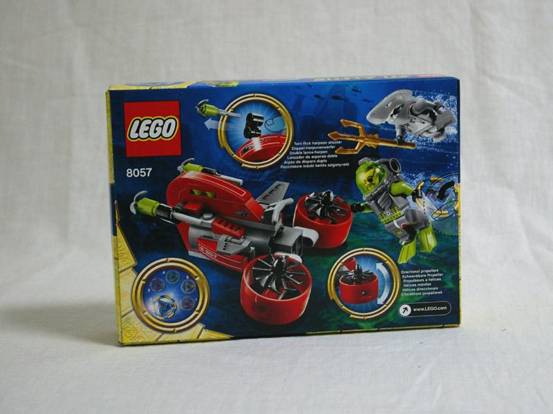 #8057 レゴ アトランティス レック・レイダー 背面の写真