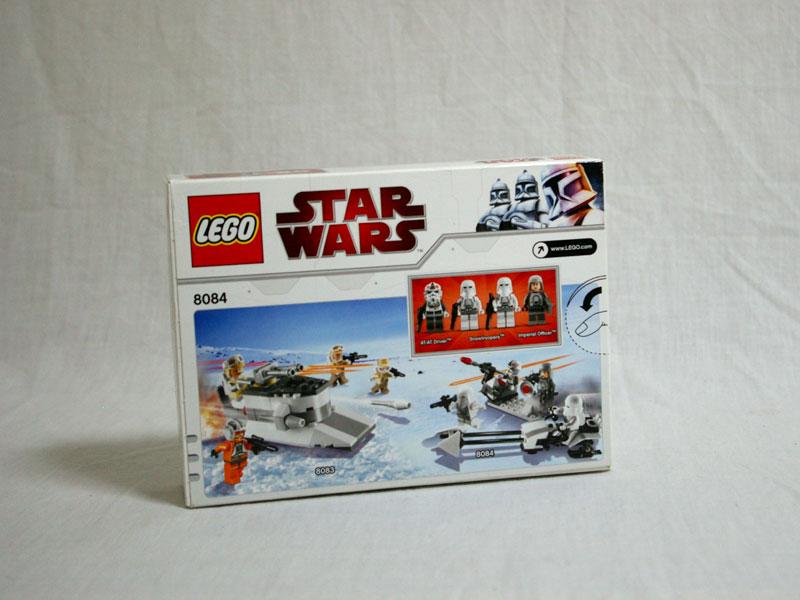 #8084 レゴ スノートルーパー バトル・パック 背面の写真