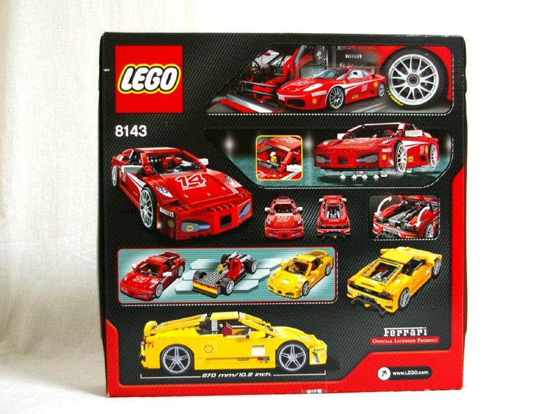 #8143 レゴ フェラーリ F430 チャレンジ 背面の写真