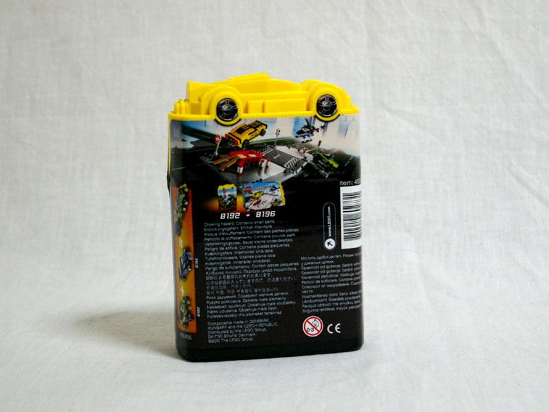 #8192 レゴ ライム・レーサー 背面の写真