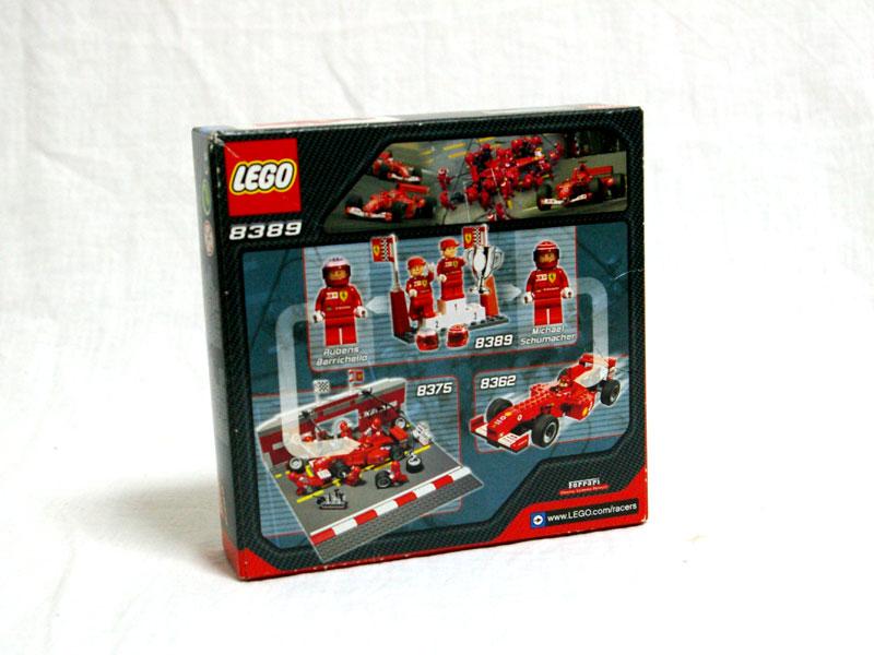 #8389 レゴ フェラーリF1シューマッハ&バリチェロ 背面の写真