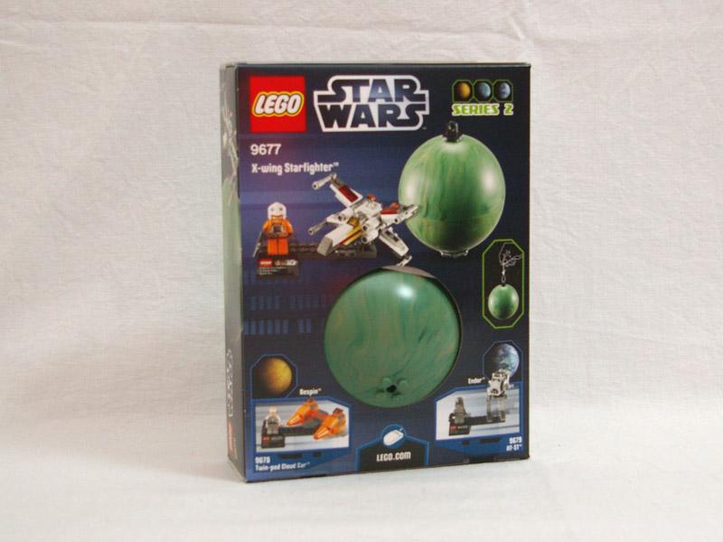 #9677 レゴ X-ウイング・ファイターとヤヴィン4 背面の写真