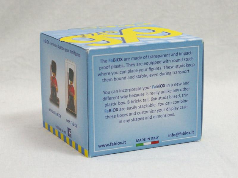 #FBX668 FaBiOX 6x6x8 ミニフィグディスプレイケース 4個入 背面の写真