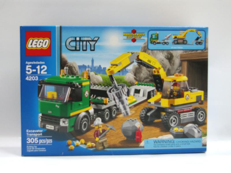 #4203 レゴ パワーショベルとトレーラー