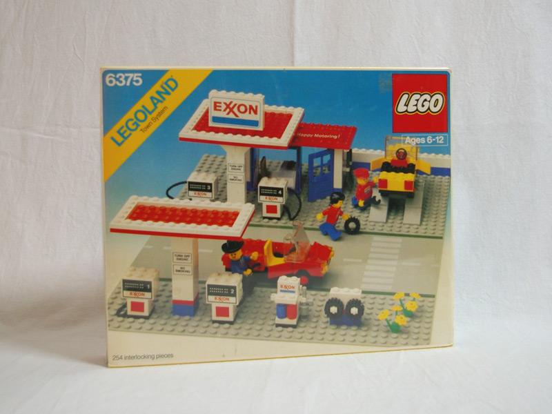 #6375 レゴ エクソンガソリンスタンド