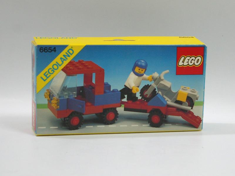 #6654 レゴ バイクと運搬車