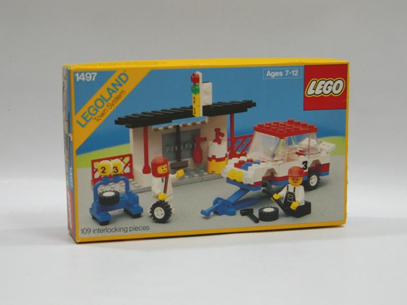 #1497 レゴ ラリーカーとピットクルー